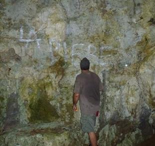 Ancient cave damage